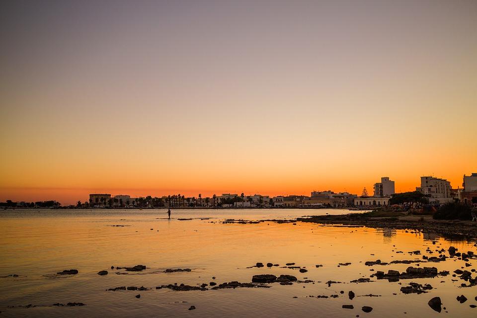 tramonto a porto cesareo